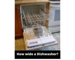 How wide is a dishwasher
